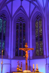 Stimmungsvoll beleuchtet - unsere Mauritiuskirche