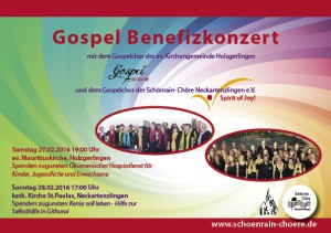 Flyer Benefitzkonzerte